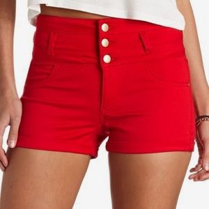 Pants - High Waisted.BLUE. Button Fly.Ladies Short 14